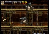 Metal Slug 5 Arcade Two robots to destroy.