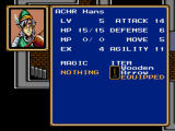 Shining Force Windows Statistics screen