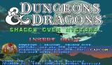 Dungeons & Dragons: Shadow over Mystara Arcade Title screen