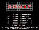 Airwolf Arcade Title Screen.