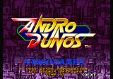 Andro Dunos Arcade Title Screen.