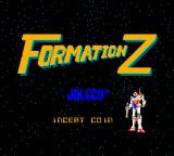 Formation Z Arcade Title Screen.