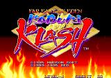 Kabuki Klash Arcade Title Screen.