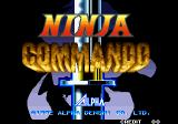 Ninja Commando Arcade Title Screen.