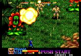 Ninja Commando Arcade Big plants.
