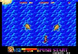 Ninja Commando Arcade Wading through the water.