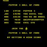 Pepper II Arcade Hall of Fame.
