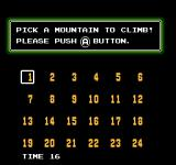 Ice Climber Arcade The players can select a starting mountain
