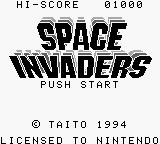 Space Invaders Game Boy Title screen