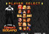Real Bout Fatal Fury Arcade Player select.