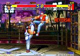 Real Bout Fatal Fury Arcade Got him with a high kick.