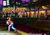 Real Bout Fatal Fury Arcade Lost and face down in the water.