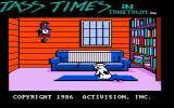 Tass Times in Tonetown PC Booter Title screen (composite monitor)