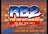 Real Bout Fatal Fury 2: The Newcomers Arcade Title Screen.