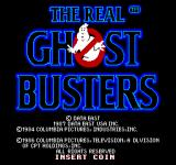 The Real Ghostbusters Arcade Title Screen.