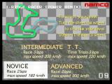 Ridge Racer Arcade Course Selection.