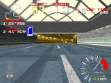 Ridge Racer Arcade Approaching  tunnel.