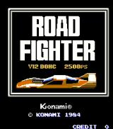 Road Fighter Arcade Title Screen.