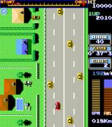 Road Fighter Arcade Overtaking.