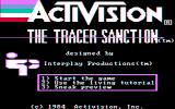 The Tracer Sanction PC Booter Title screen (composite monitor)