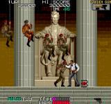 Sly Spy: Secret Agent Arcade Fighting in front of Lincoln's Memorial.