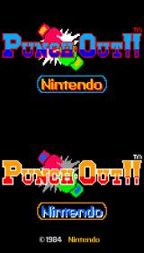 Punch-Out!! Arcade Title screen