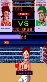 Punch-Out!! Arcade Game over