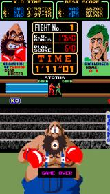 Super Punch-Out!! Arcade Game over