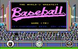The World's Greatest Baseball Game PC Booter Title screen on Enhanced Edition (CGA Composite)