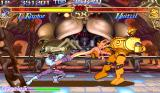 Darkstalkers: The Night Warriors Arcade Lord Raptor hitting the first boss of the game, the robot Huitzil