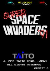 Space Invaders '91 Arcade Title Screen.