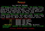 Pengwyn BBC Micro Instructions screen