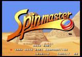Spinmaster Arcade Title Screen.