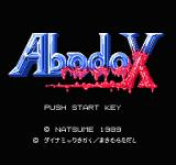 Abadox: The Deadly Inner War NES Title Screen [Japanese Version]