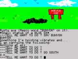 Scott Adams' Graphic Adventure #1: Adventureland ZX Spectrum At the edge of bottomless hole