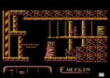 Agonia Atari 8-bit Narrow passage - no way to over jump the soldier, energy loss is inevitable
