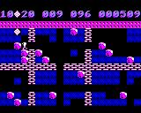 Boulder Dash BBC Micro Pushing a boulder out of the way