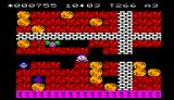 Boulder Dash Epoch Super Cassette Vision The enemy is, luckily, trapped in the dirt