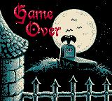 Dracula: Crazy Vampire Game Boy Color Game Over