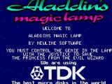 Aladdin's Magic Lamp Amiga Title Screen