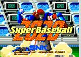 Super Baseball 2020 Arcade Title Screen.