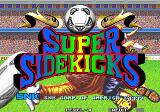 Super Sidekicks Arcade Title Screen.