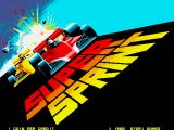 Super Sprint Arcade Title Screen.