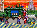 The Combatribes Arcade Floating clowns.