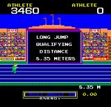Hunchback at the Olympics Arcade Long Jump.