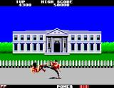 Flashgal Arcade Fighting in front the White House
