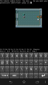 NetHack Android GAME OVER
