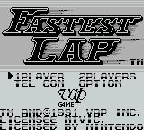 Fastest Lap Game Boy Title