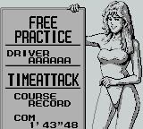 Fastest Lap Game Boy Race lady