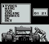Fastest Lap Game Boy In the pits
